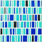 LE MURRINE DECORO LOW METAL TURQUOISE SU RETE 30X30 (230806)
