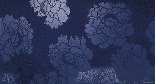 Adore Navy Flower 30.5x56 (9AFN) (9AFN_sale)