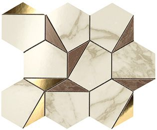 MARVEL Gold Hex Brown-Calacatta (9EHB)