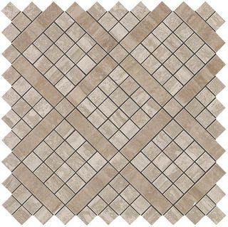 Marvel Travertino Silver Diagonal Mosaic (9MVB)