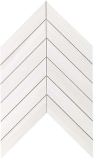 Marvel Bianco Dolomite Chevron Wall (9SCD)