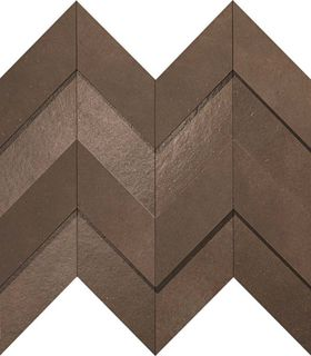 Dwell Brown Leather Chevron 3D (A1DO)