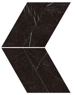 Marvel Nero Marquina Chevron Lappato (AS1W)