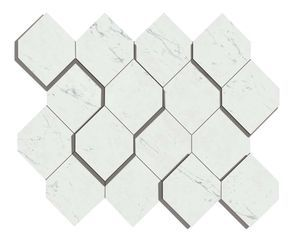 Marvel Carrara Pure Mosaico Esagono 3D (AS4A)